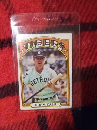 1972 Topps Detroit Tigers Norm Cash