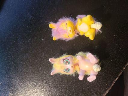 Fuzzy Plastic Bunnies