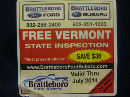 State Inspection Coupon >> Free Free Vermont State Inspection Coupon 36 Value Good Only At
