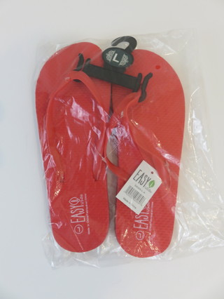 Ladies Flip Flops Size Large (9) Red New w/ Tags