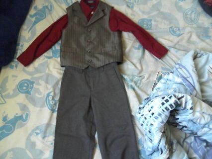 Boys, size 4 shirt, vest, and slacks
