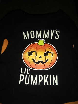 Black Pumpkin LS 2T Top