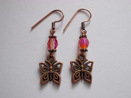 BUTTERFLY Dangle Earrings NEW Handmade