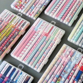 6/10pcs Kawaii Flower Color 0.38mm Gel Pen Set Ink Pens School Office Supplies Cute Ballpoint Pen