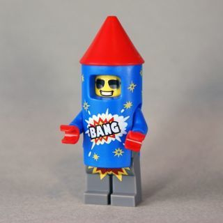 [GIN FOR FREE SHIPPING] New Firework Guy Minifigure Building Toy Custom Lego
