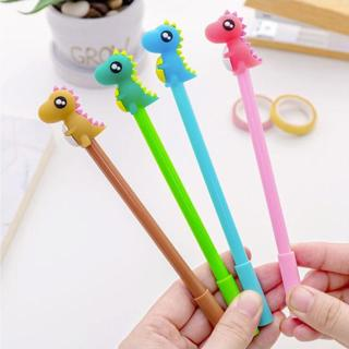 Cute Colorful Dinosaur Shape Gel Pen DIY Office Stationery and School Supplies Smooth Writing Blac