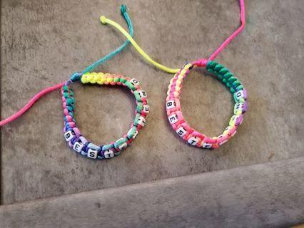 Best friend bracelets, so fun