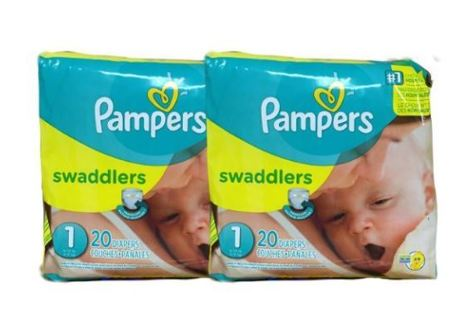 ✨✨SUPER CRASH SALE! 200,000 credits down!!✨✨Pampers Swaddlers Diapers, Size 1, 2 packs of 20=40