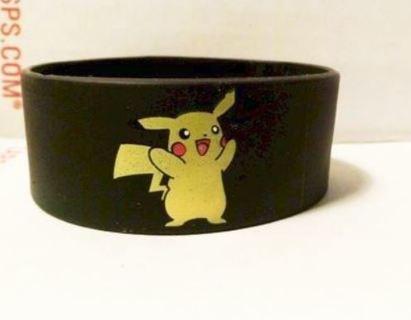 1 Pokemon Pikachu Wrist Band bracelet wristband POKEMON JEWELRY pocket monster anime GIN