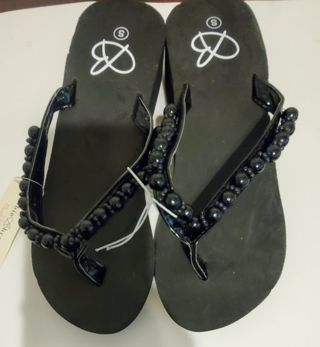 Brand New Beaded Sandals Flip Flops Size Small 5-6