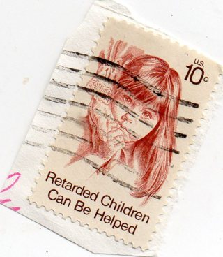 Used Stamp10 Cent Retarded Children Can Be Helped
