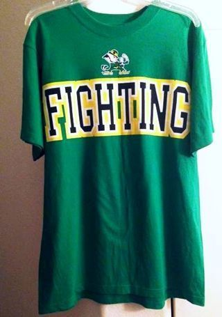 1 Adidas Shirt NOTRE DAME Fighting Irish Tee ADIDAS FREE SHIPPING