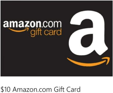$10 Amazon gift card (digital delivery)