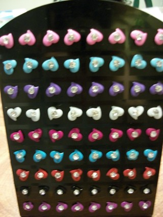 MultiColored POST EARRINGS - Choice of One (1) - Brand New! Includes FREE Shipping!