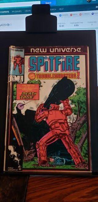 Spitfire #2 Marvel Comics 1986 in PR!