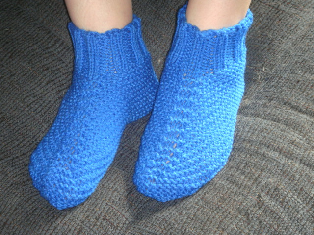 Free: Adult Quick and Easy Knit Bootie Slipper Pattern 3 Sizes PDF - Knitting...