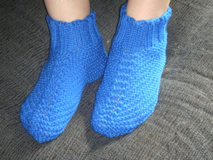 Free Adult Quick And Easy Knit Bootie Slipper Pattern 3 Sizes Pdf