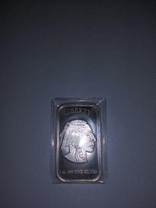 1 oz .999 silver bar.