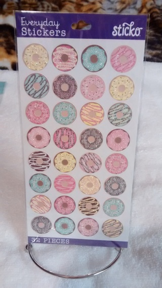 KAWAII DONUT STICKERS!! ADORABLE AND NEW!! AUCTION #2