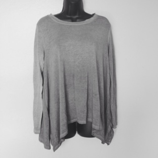NWOTs Tie Dyed Gray Top, Large