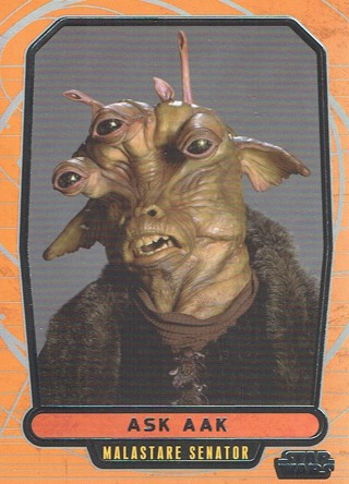 Star Wars Galactic Files Topps 2013 Collectible Card Ask Aak #448