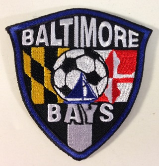 Lot of 2 Baltimore Bays Soccer Iron On / Sew-On Embroidered Patches