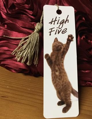 High Five Cat Bookmark(new)
