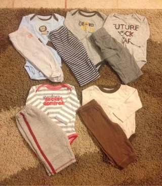 Baby boy lot 0-6 months onesies outfit