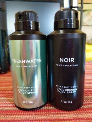 B&BW Men's deodorizing body spray Duo