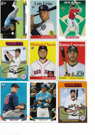 (9) 2019 Topps Archives Rookies