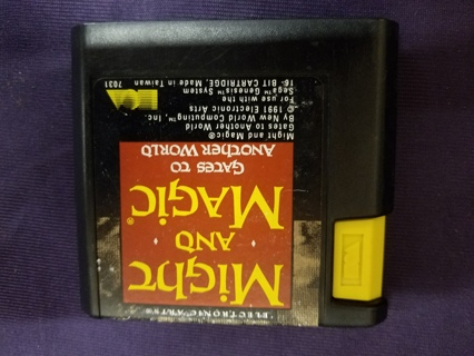 Used Might and Magic: Gates to Another World (Sega Genesis, 1991) Cartridge
