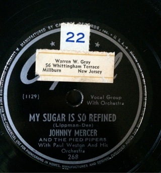Johnny Mercer And The Pied Pipers, 78 RPM