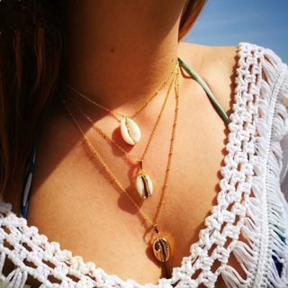 Bohemian Beach Sexy Shell Pendant Necklace Women Personality Clavicle Chain Party Wedding Jewelry