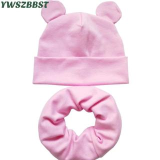 New Baby Hat with Cute Ears Cotton Infant Hat Baby Hats for Girls Boys Child Cap Scarf Collars Rin