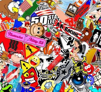 NEW MYSTERY RANDOM Pack Stickers *Luck of The Draw* (7) Random Pop Culture Art Music Movie Anime