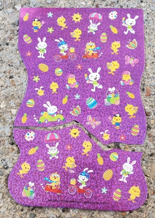 EASTER SPARKLE STICKERS 2 SHEETS LOT 4