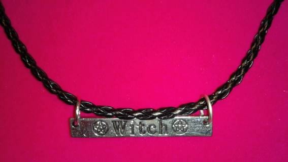 Witch Sign Necklace, Symbol of Power of the Unconscious, Choice of Chain, Choice of Bonus Earrings