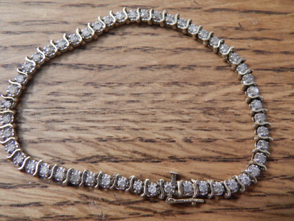 Free Vintage Real 10kt Gold Diamond Tennis Bracelet From Zales Xlt Cond