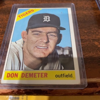 1966 topps Don Demeter baseball card