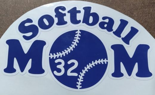 Softball mom. Car decal