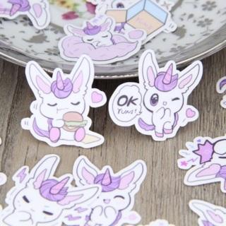 ♡❥ Purple Unicorn Kawaii High End Sticker Flakes Set of 10 BRAND NEW ♡❥