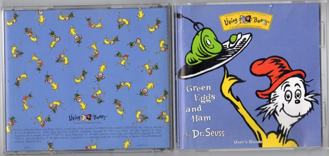 Green Eggs and Ham by Dr. Seuss PC/MAC CD-ROM Game/Book 1996 by Living Books
