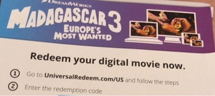 Madagascar 3 digital hd only