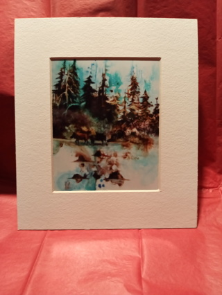 FRAMED WATERCOLOR PAINTING