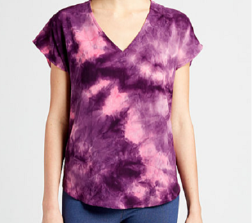 BNWT Women's Wishful Park Pink Navy Multi Tie Dye Top - Size L