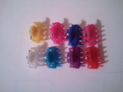 8 mini hair clips