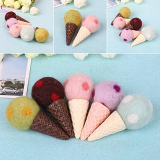 Felt Knit Ice Cream Infant Handmade Toy Newborn Photography Props Accessories