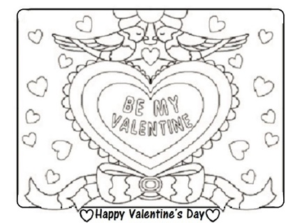 ❤️ (New) Valentine's Day Coloring Sheets (6 Qty) ❤️
