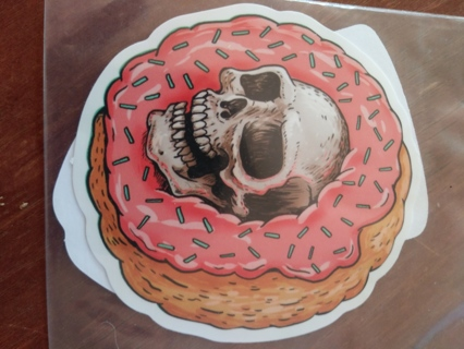 2 Skull foodie stickers