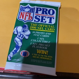1990 pro set unopened pack of football cards